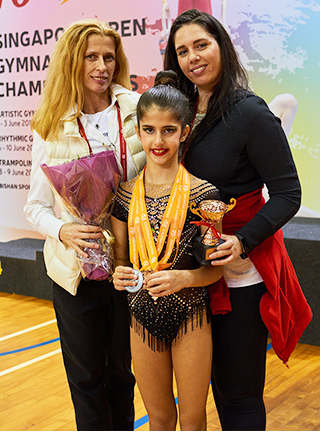 bianka panova with her awarded student