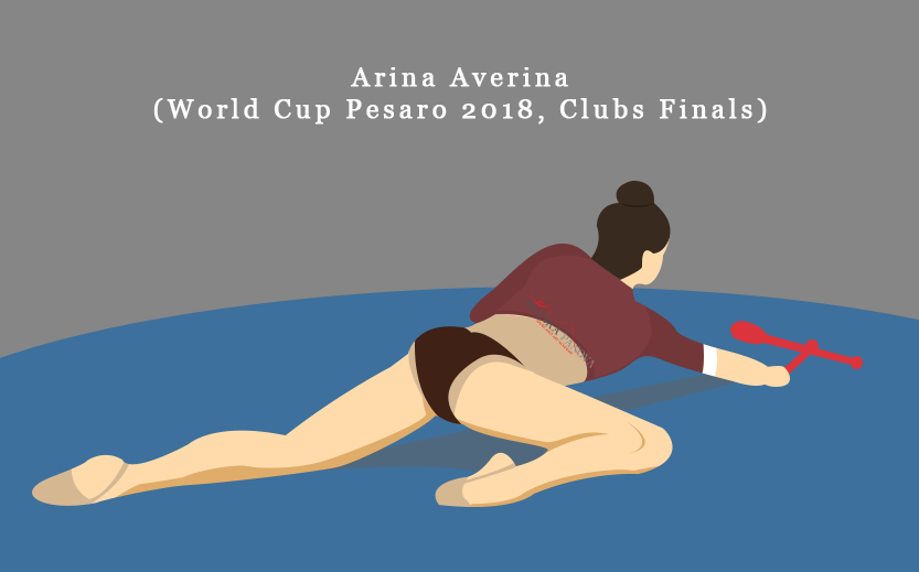 Arina Averina Clubs Finals, World Cup Pesaro 2018