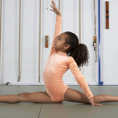 Gymnast Stretching