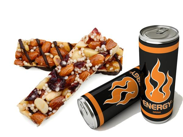 Energy bars and drinks