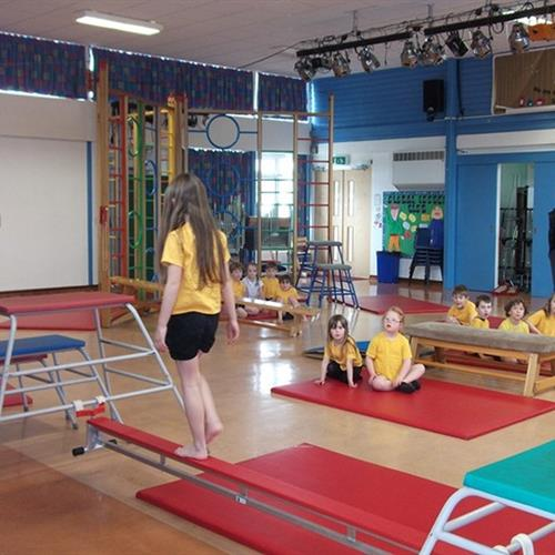 A gymnastics school in UK, wherein gymnastics was a part of their school curriculum