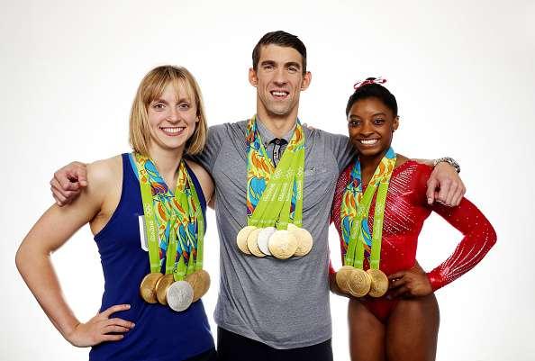 Biles, Ledecky, Phelps