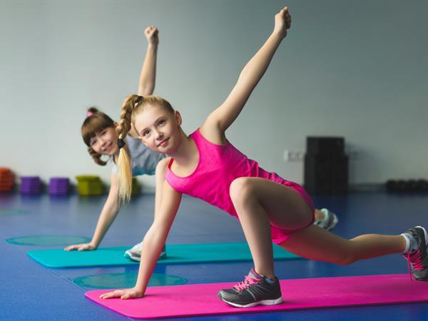 Gymnastics Girls Doing Stretchings