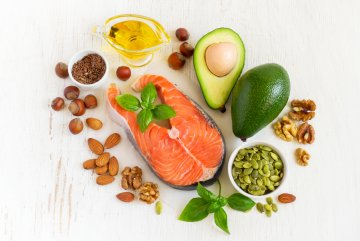 Fats Food Sources, Salmon, Avocado