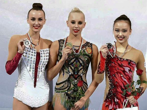 World Cup Sofia Individual All-around podium