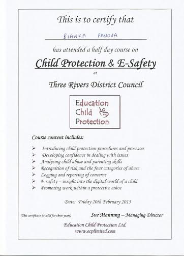 Child Protection and E-safety